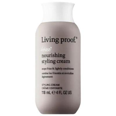Living proof No Frizz Nourishing Styling Cream A styling cream that smooths, conditions, and eliminates frizz by blocking humidity without weighing hair down. Weightlessly blocks humidity Smooths, conditions, and stops frizz Ideal for medium to thick frizzy hair