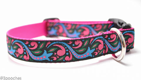 Shooting Stars and Swirls - Hot Pink/Cornflower Blue