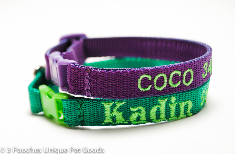 Classic Solid Personalized Cat Safety Collar