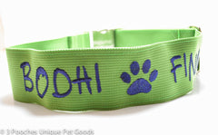 2 inch personalized collar with image