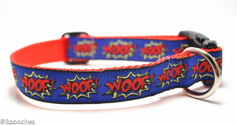 WOOF! in Royal and Red