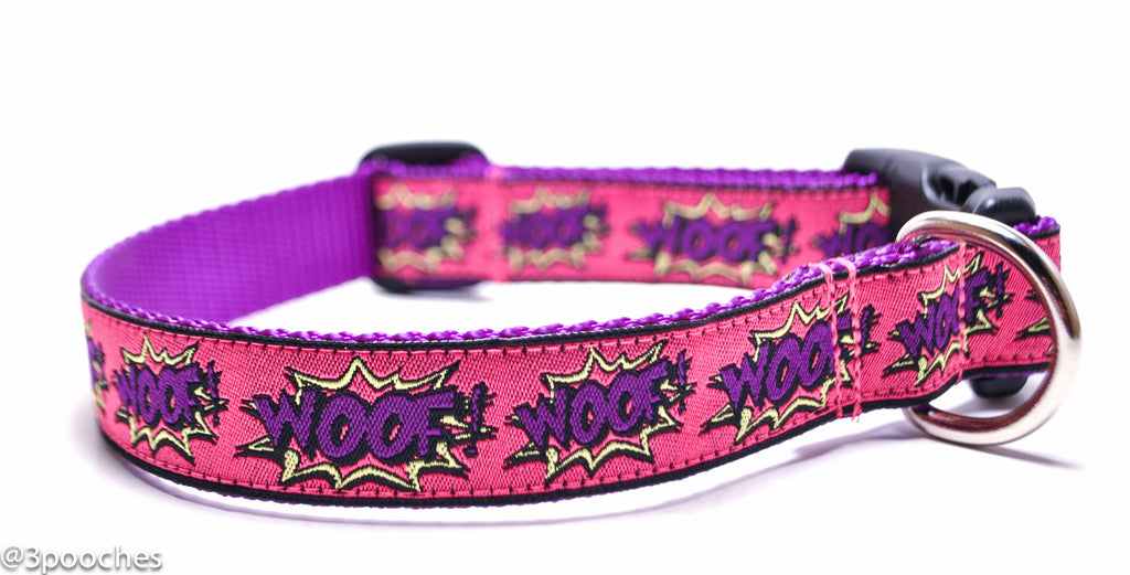 WOOF! in Pink and Purple