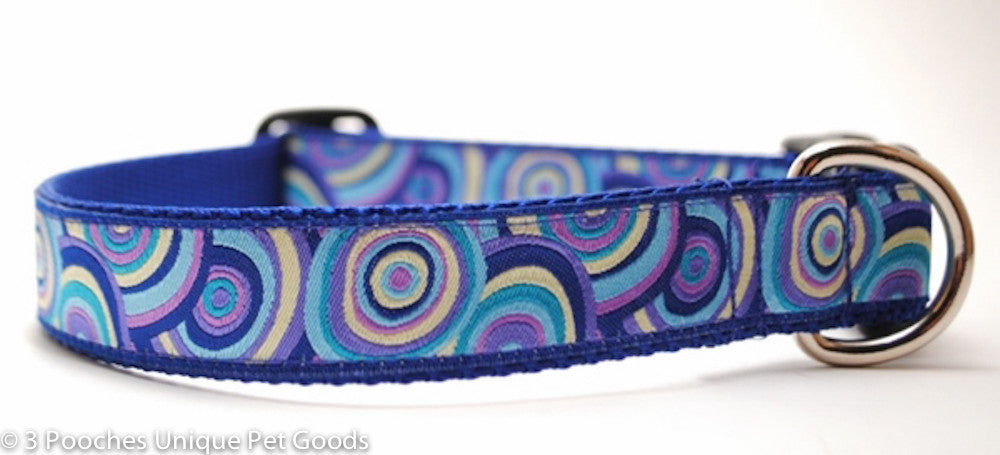 Royal Lavender Swirls Dog Collar