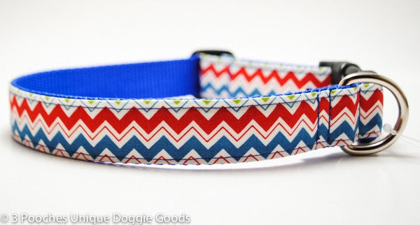 red blue chevron stripe