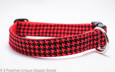 Christmas Houndstooth in Red