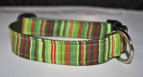 green brown stripe