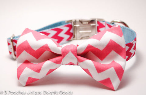 Chevron Bow Tie for Dog Collar