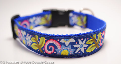 Pop Floral in Blue - LIMITED, 1 Available