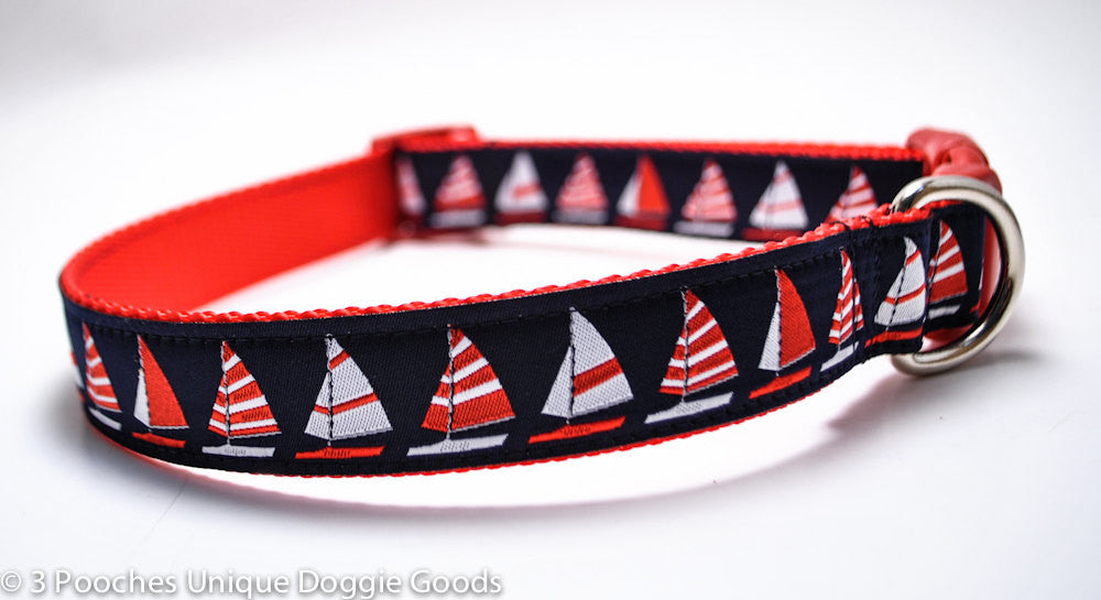 Red/Navy Sailboats
