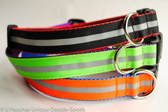 reflective stripe collar black