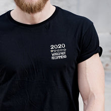 Load image into Gallery viewer, 2020 Review Embroidered Black T Shirt T-Shirt ALLPOP