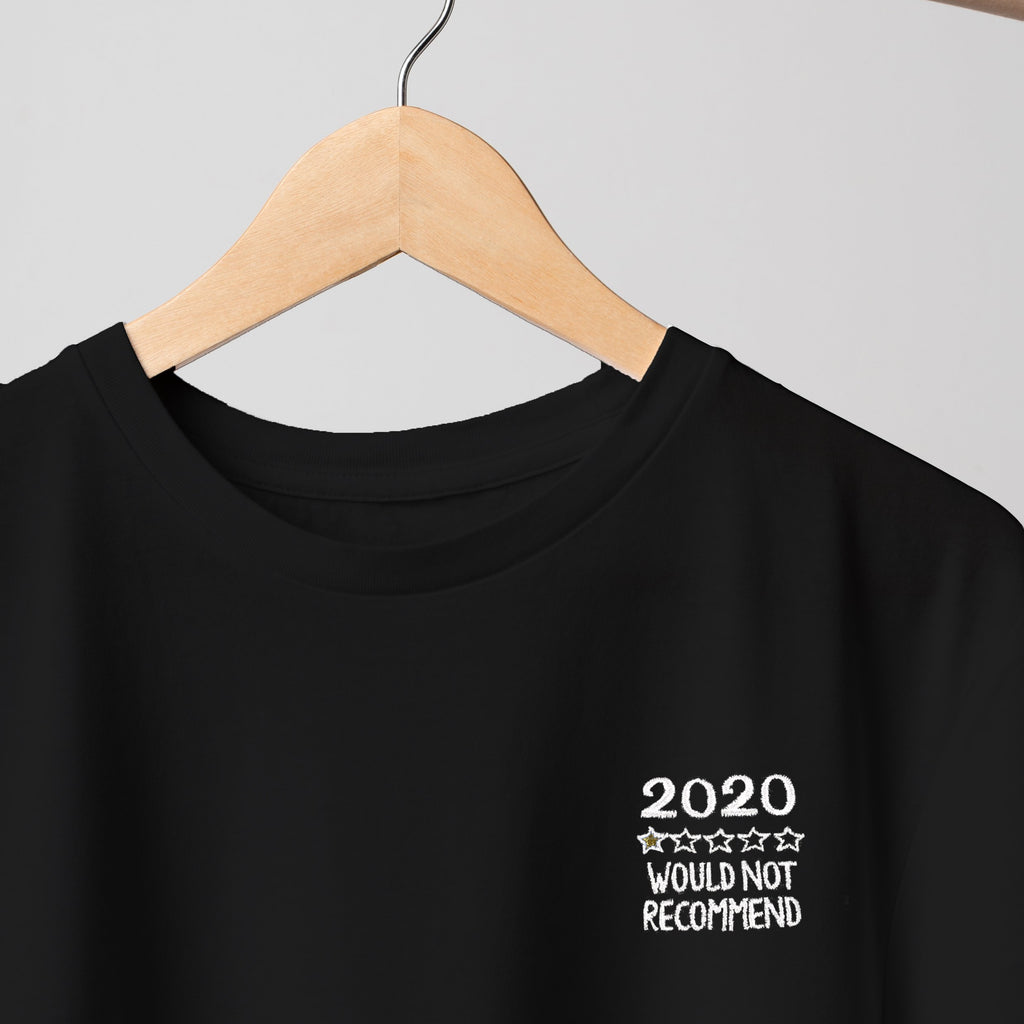 2020 Review Embroidered Black T Shirt T-Shirt ALLPOP