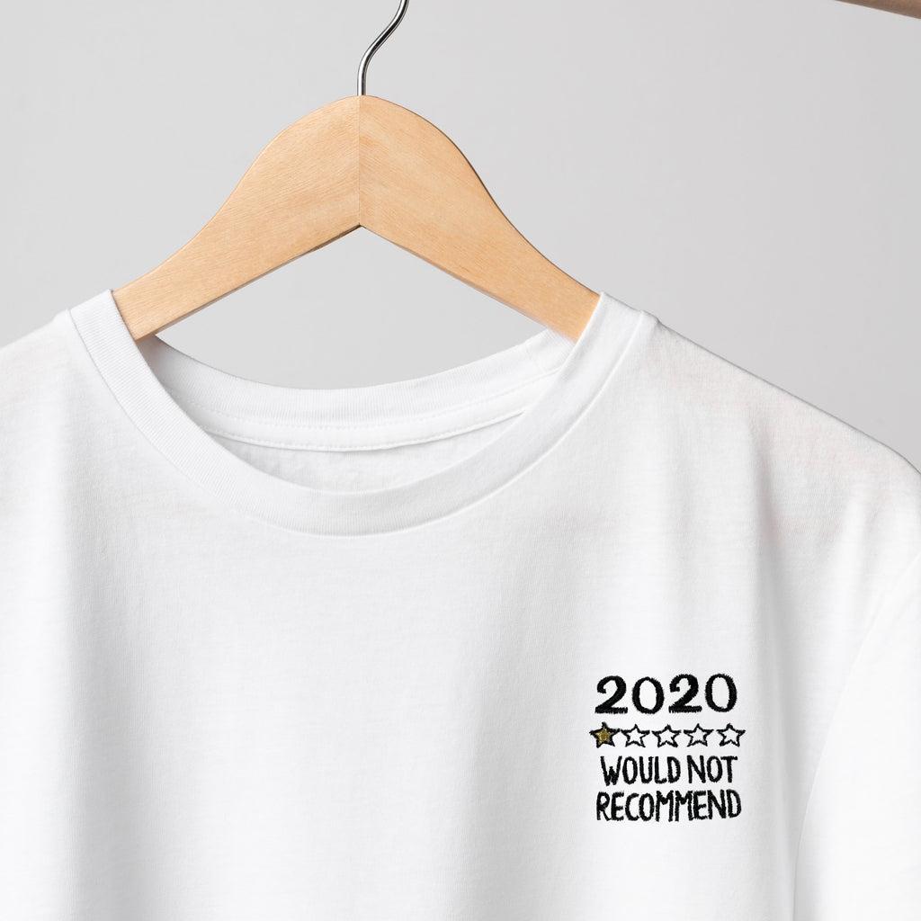 2020 Review Embroidered T-Shirt T-Shirt ALLPOP