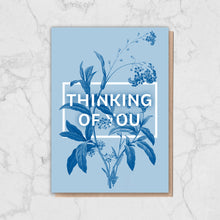 Load image into Gallery viewer, Blue Floral Thinking Of You Card Greetings Card ALLPOP