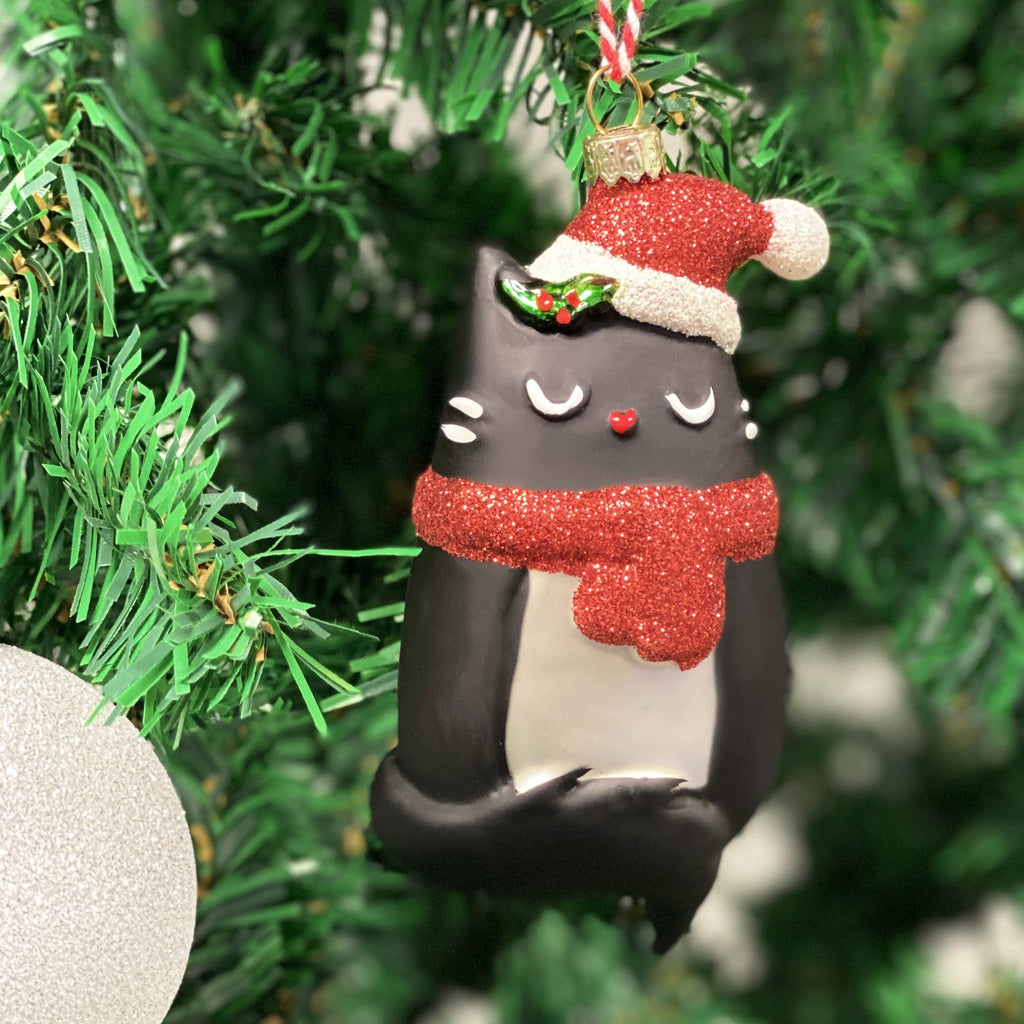 Christmas Cat Bauble Decoration Decoration ALLPOP