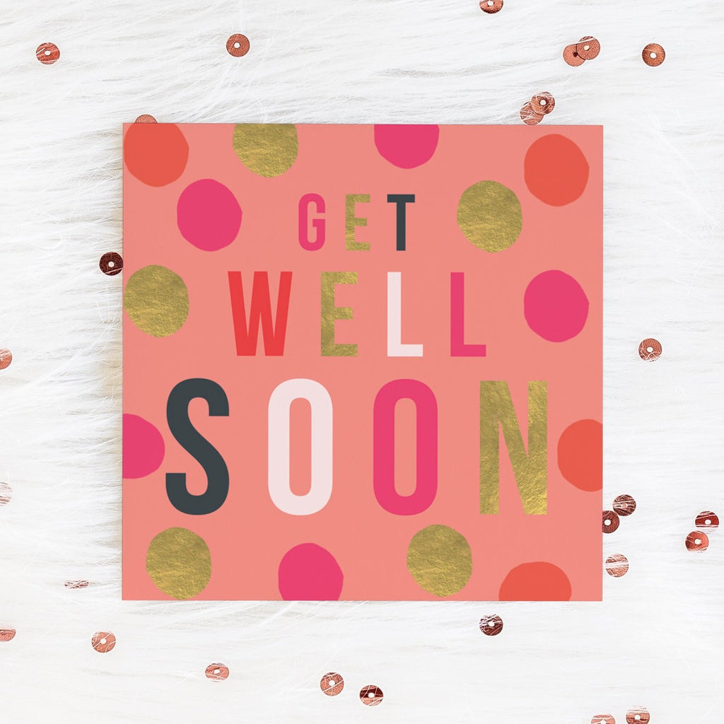 Colourful Get Well Soon Card Greetings Card ALLPOP