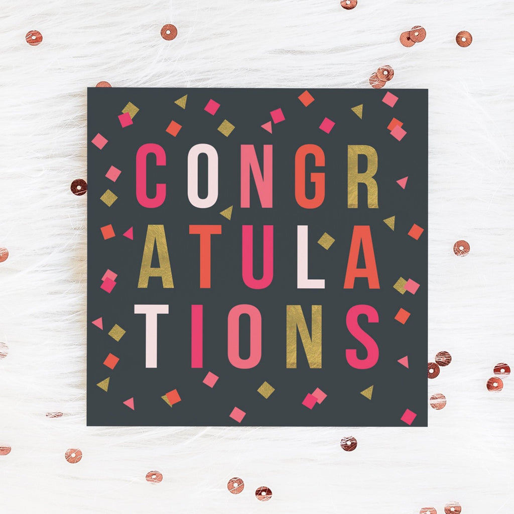 Confetti Congratulations Card Greetings Card ALLPOP