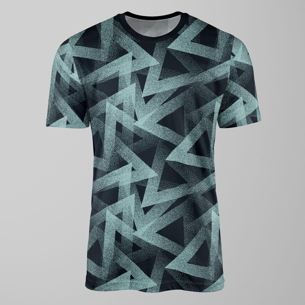 Dotty Triangles Print Mint T-Shirt T-Shirt Tee