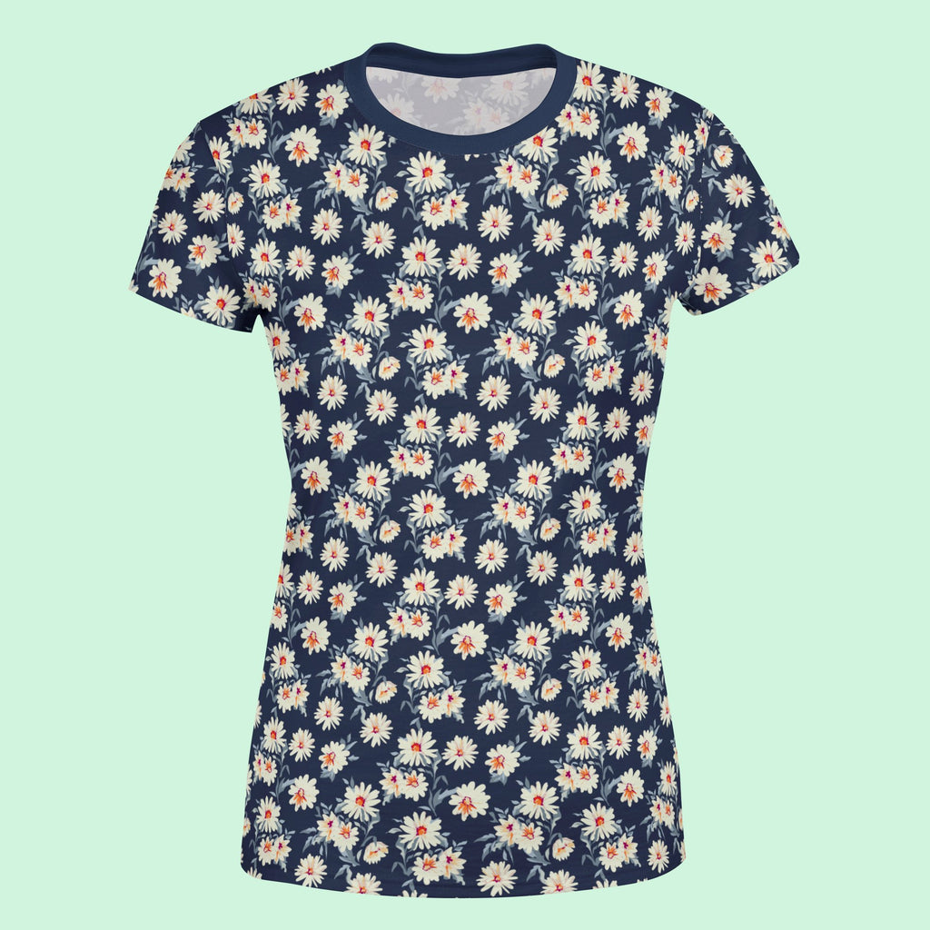 Fairford Floral Navy Women's T-Shirt T-Shirt Tee