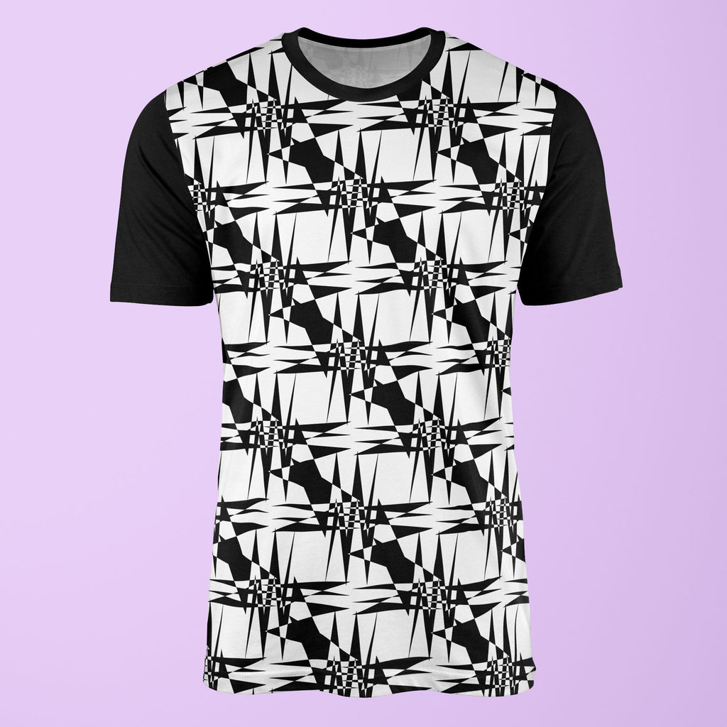 Geometric Checkerboard T-Shirt T-Shirt Tee