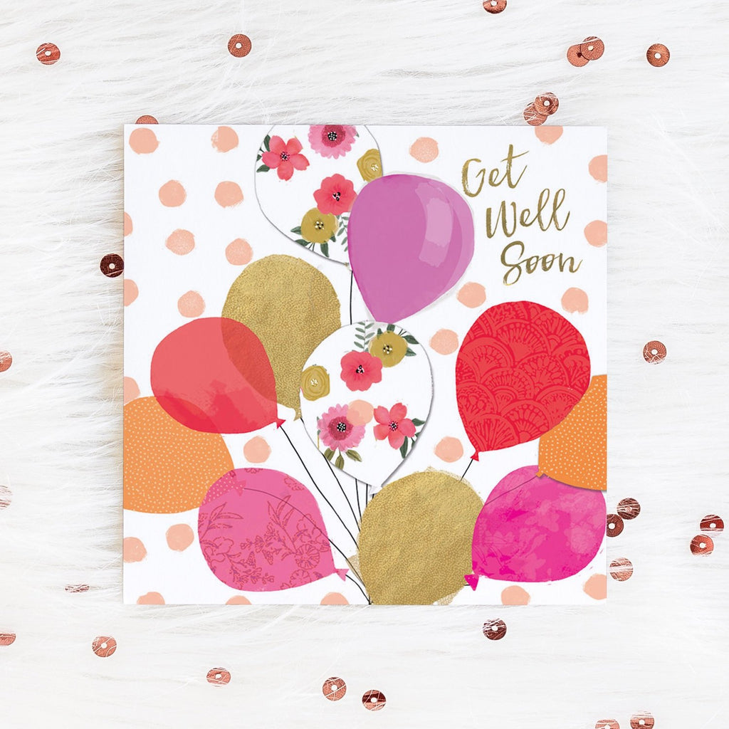 Get Well Soon Balloons Card Greetings Card ALLPOP