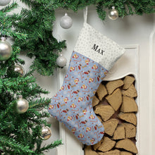 Load image into Gallery viewer, Ginger Cat Print Christmas Stocking Christmas Stocking Dog Breeds