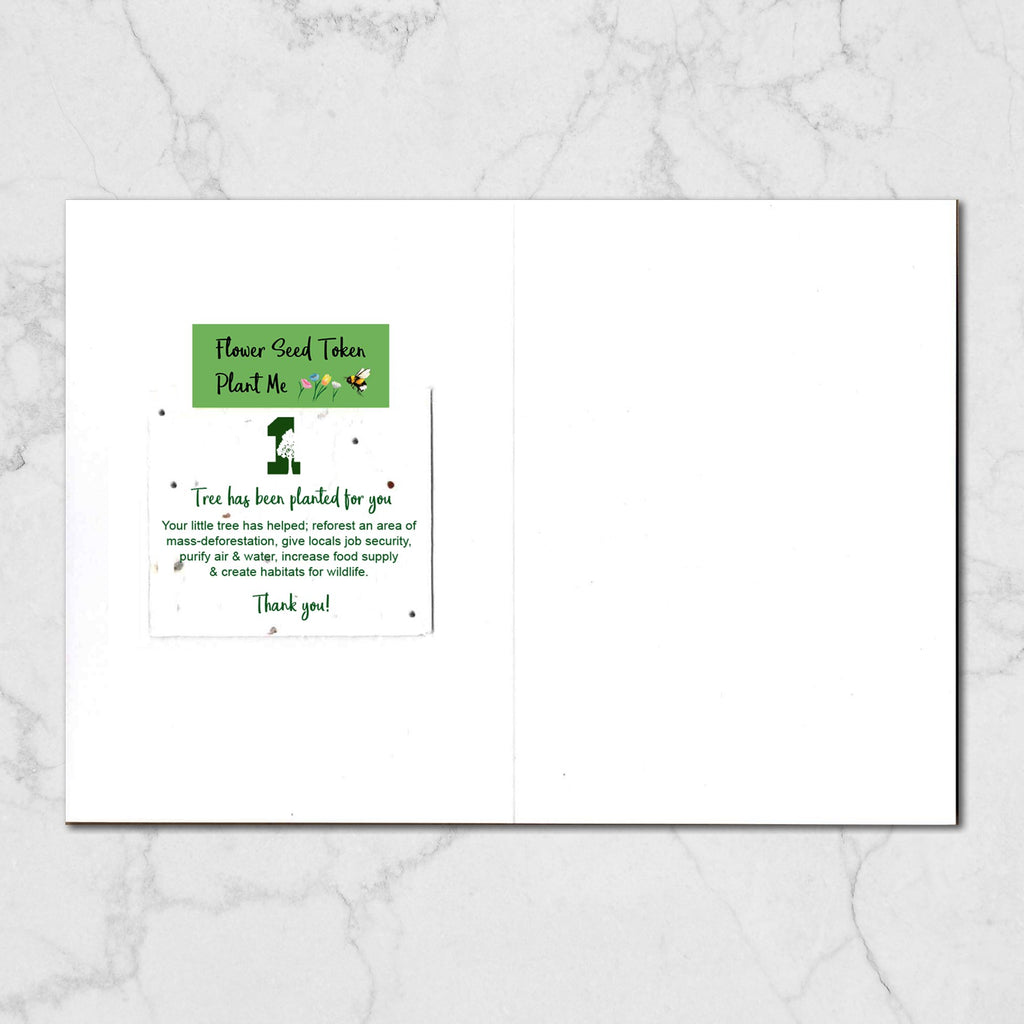 Green Pudding Nature Christmas Card Greetings Card ALLPOP
