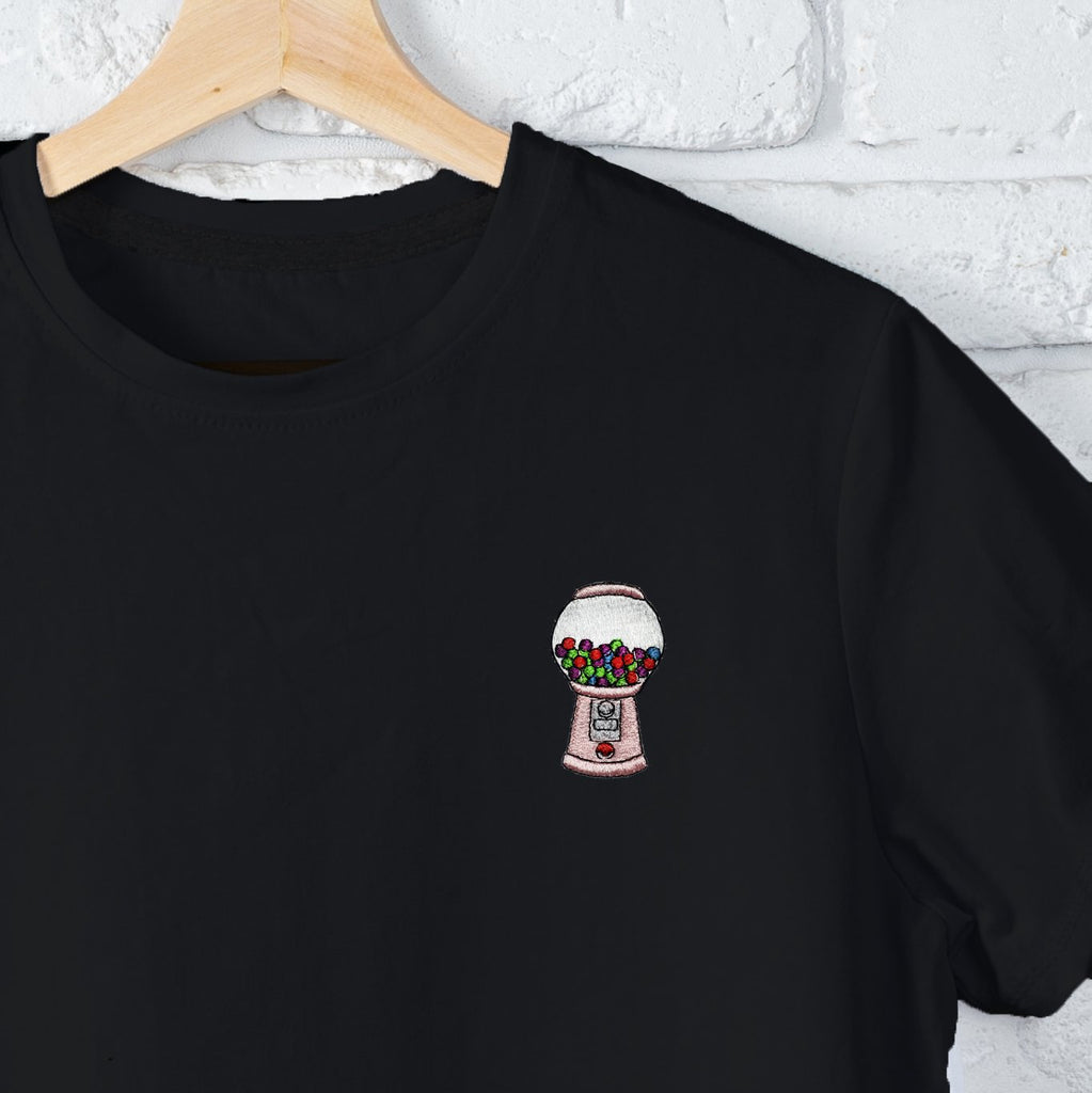 Gum-Ball Machine Embroidered Black T Shirt T-Shirt ALLPOP