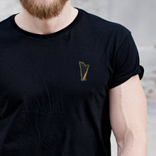 Load image into Gallery viewer, Harp Embroidered Black T Shirt T-Shirt ALLPOP