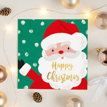 Load image into Gallery viewer, Jolly Santa Happy Christmas Card Greetings Card ALLPOP
