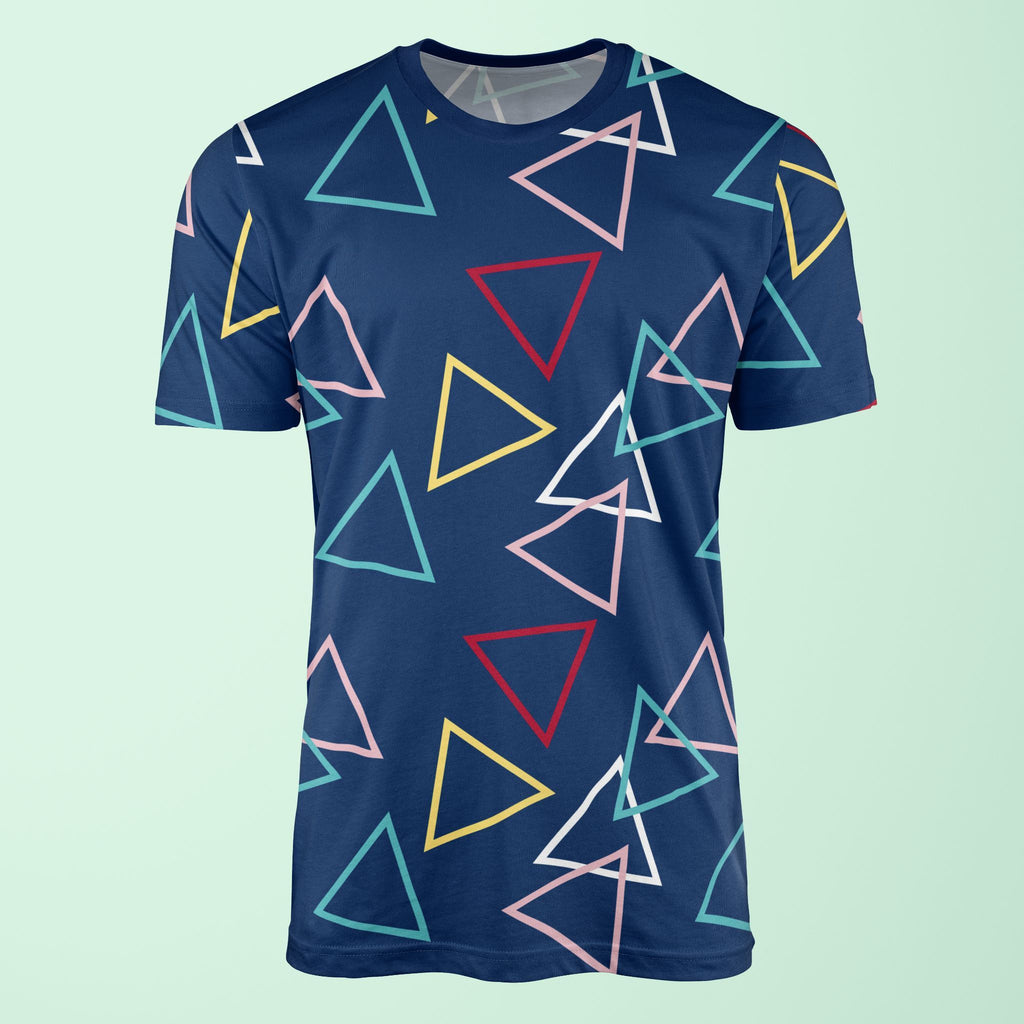 Large Triangle Print Navy T-Shirt T-Shirt Tee