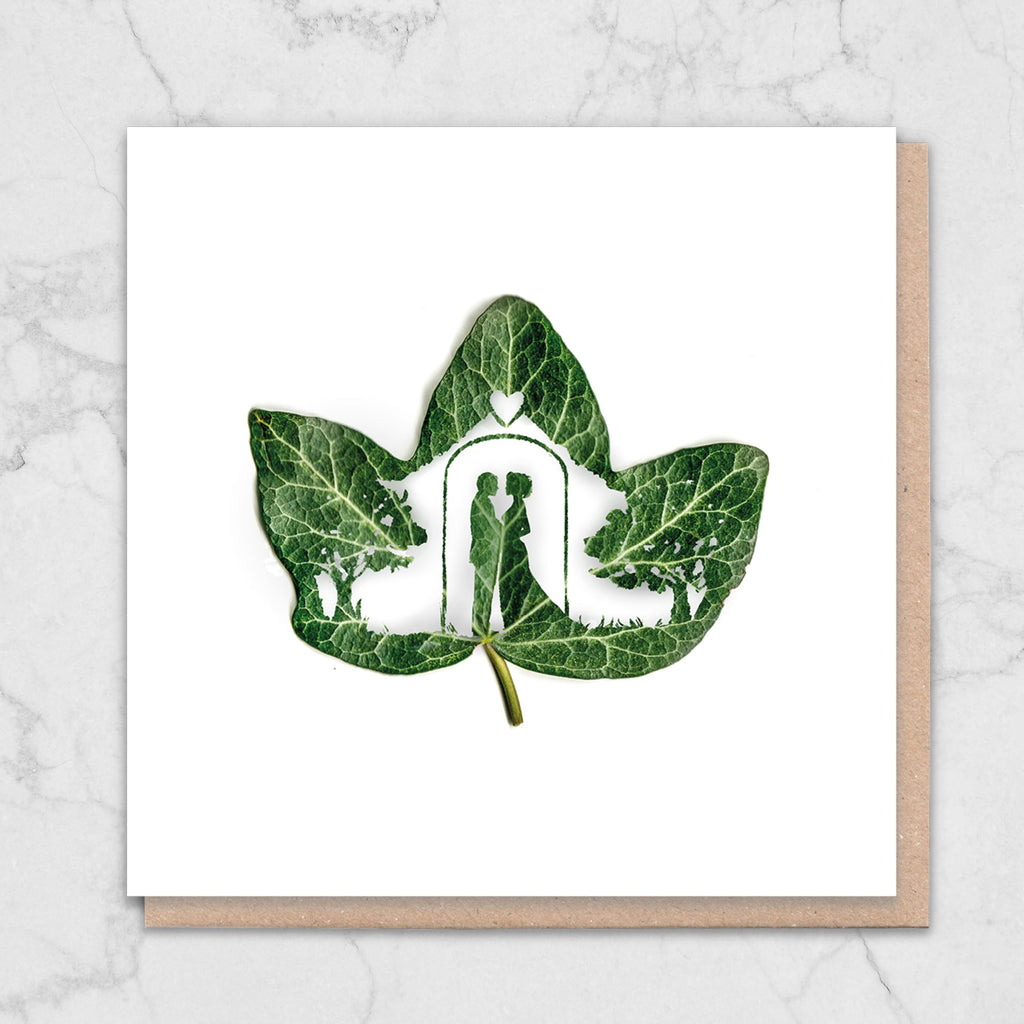 Leaf Wedding Card Greetings Card ALLPOP