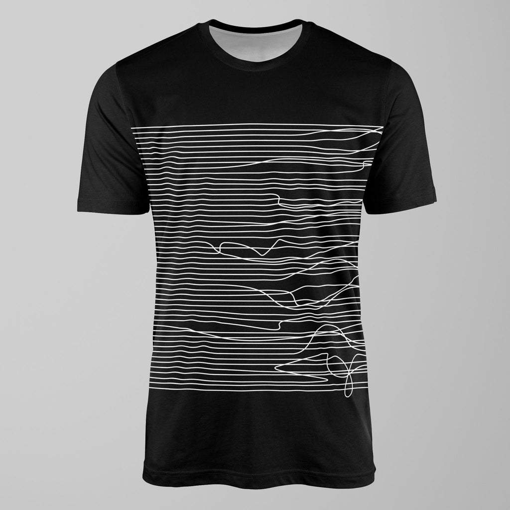 Lines in Black and White T-Shirt T-Shirt Tee