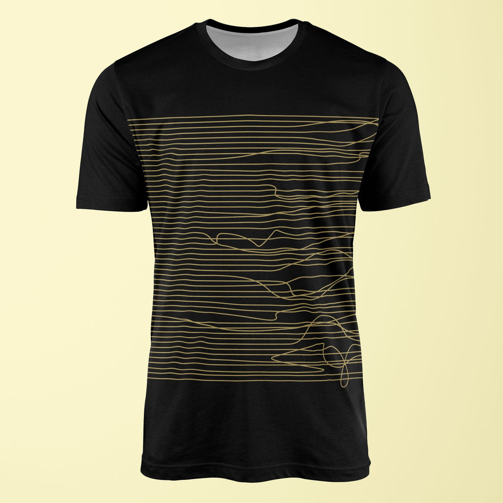 Lines in Black & Gold T-Shirt T-Shirt Tee