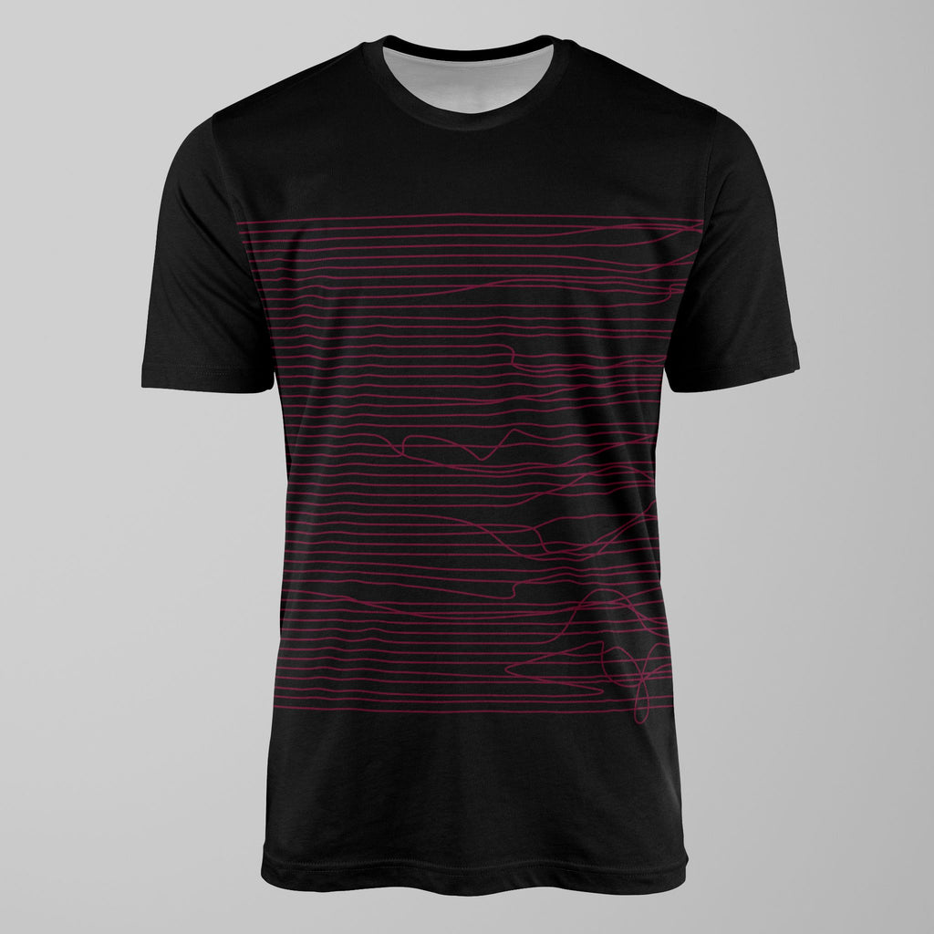 Lines in Black & Pink T-Shirt T-Shirt Tee
