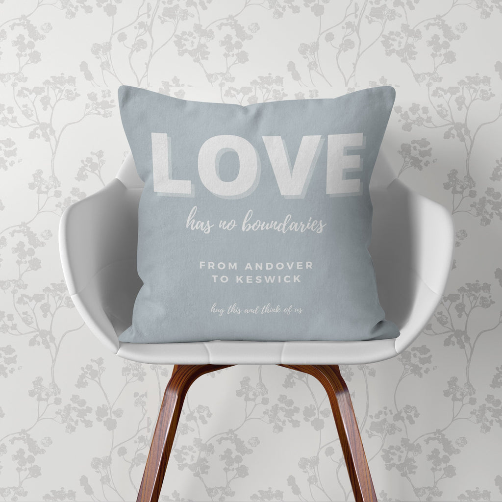 Lockdown Christmas Personalised 'Love' Cushion Cushion MBT Dove Grey None (cover only)
