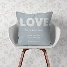 Load image into Gallery viewer, Lockdown Christmas Personalised 'Love' Cushion Cushion MBT Dove Grey None (cover only)