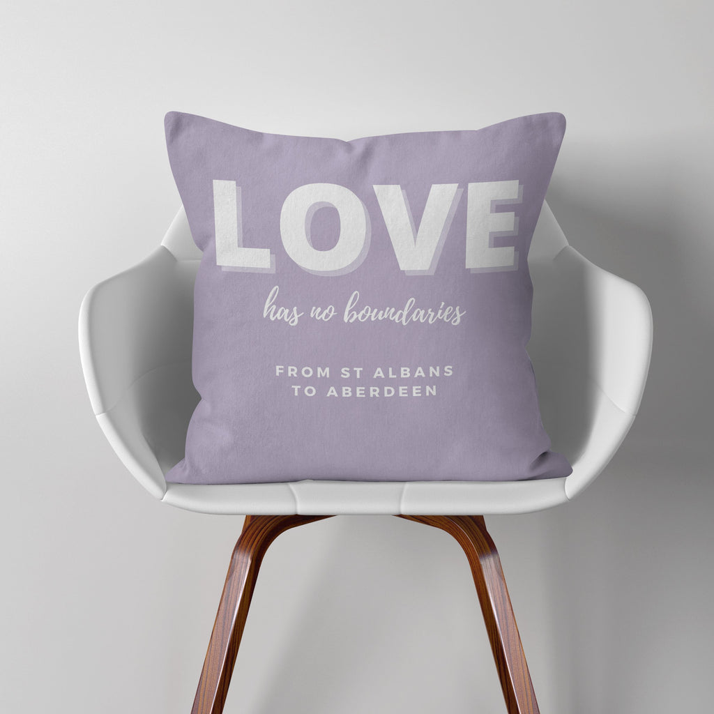 Lockdown Christmas Personalised 'Love' Cushion Cushion MBT Lilac None (cover only)