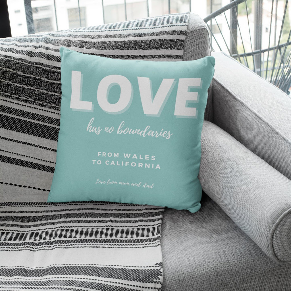 Lockdown Christmas Personalised 'Love' Cushion Cushion MBT Mint Green None (cover only)