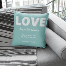Load image into Gallery viewer, Lockdown Christmas Personalised 'Love' Cushion Cushion MBT Mint Green None (cover only)
