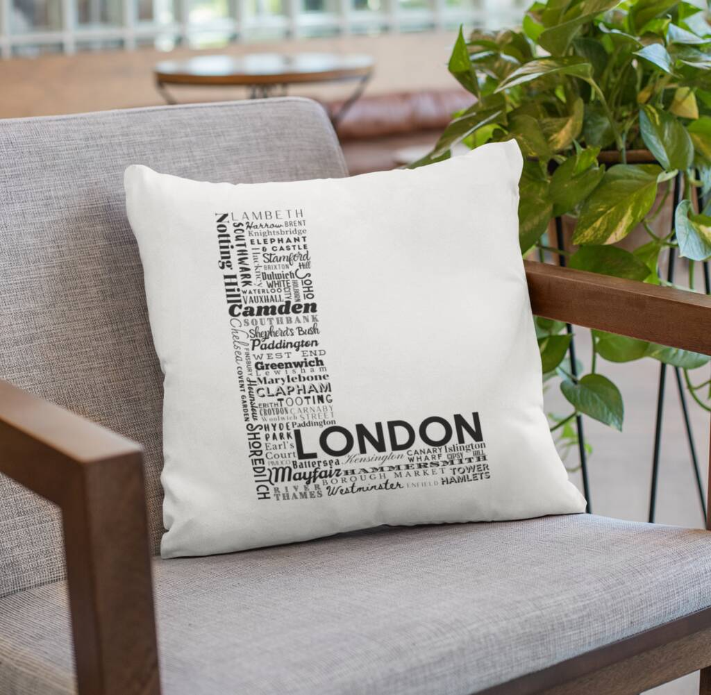 London Location Letter Cushion Cushion MBT