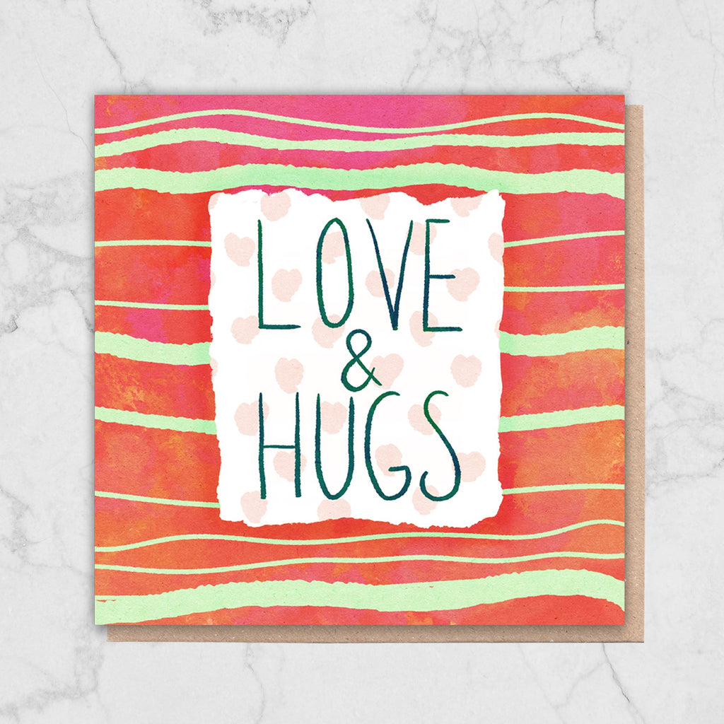 Love and Hugs Greetings Card Greetings Card ALLPOP