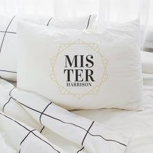 Load image into Gallery viewer, Personalised Art Deco Couples Pillowcases Pillowcase MBT