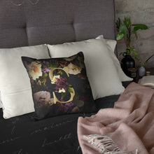 Load image into Gallery viewer, Personalised Dark Floral Letter Cushion Cushion MBT S None (Cover Only)