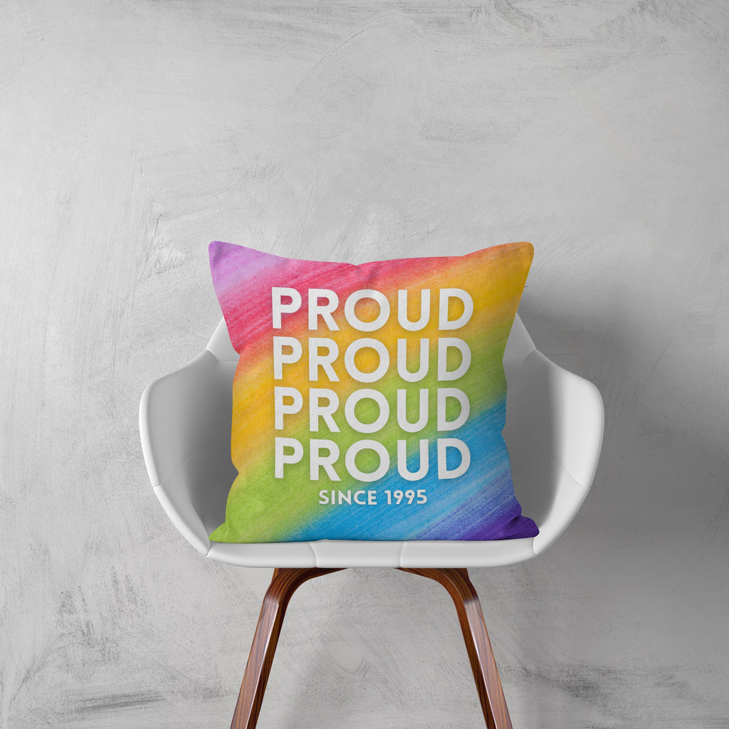 Personalised Date Pride Cushion Cushion MBT