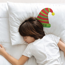 Load image into Gallery viewer, Personalised Elf Hat Name Pillowcase Pillowcase MBT
