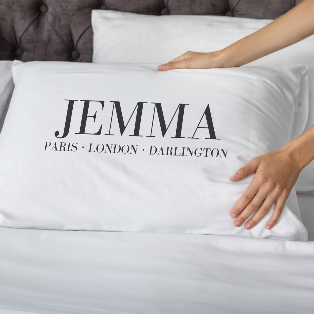 Personalised Fashion Places Pillowcase Pillowcase MBT