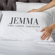 Load image into Gallery viewer, Personalised Fashion Places Pillowcase Pillowcase MBT