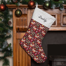 Load image into Gallery viewer, Personalised Naughty Santa Christmas Stocking (Red) Christmas Stocking MBT