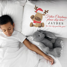 "Load image into Gallery viewer, Personalised Reindeer ""Been Good"" Pillowcase Pillowcase MBT"